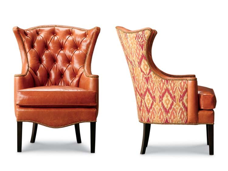 1231-18 Kelly Tufted Wing Chair