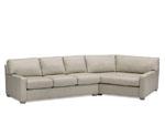 920-00-1L/40 Manhattan Left Arm Sofa & 920-6-1R/40 Rt Arm Cuddler-QS Frame