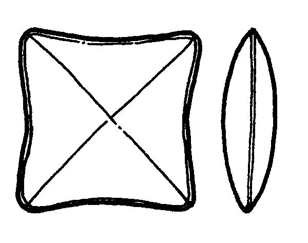 Cross Square Pillow